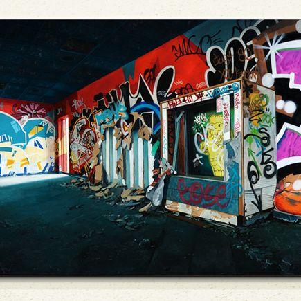 Jessica Hess Original Art - Providence Playground - Original Painting