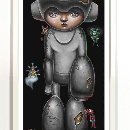 Jordan Mendenhall Art Print - Megaman - Grey Edition
