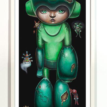 Jordan Mendenhall Art Print - Megaman - Green Edition