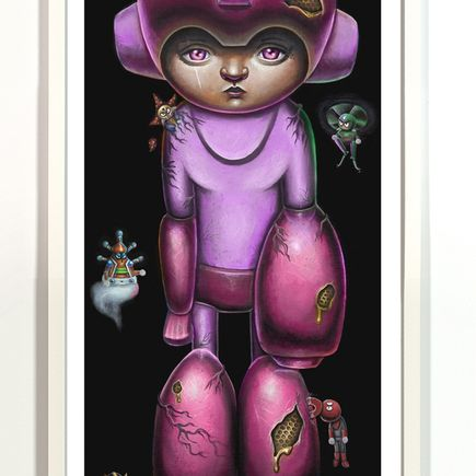 Jordan Mendenhall Art Print - Megaman - Pink Edition