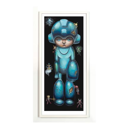 Jordan Mendenhall Art Print - Megaman - Blue Edition