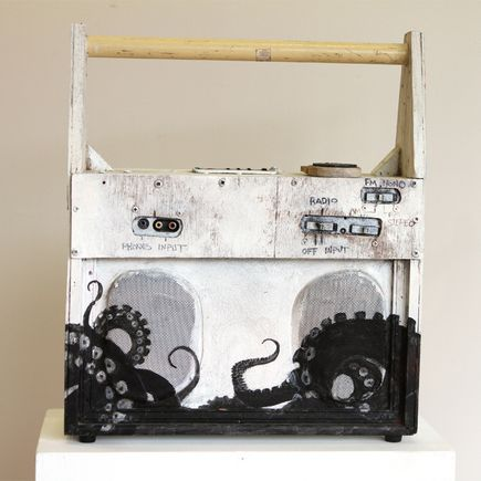 Ron Zakrin Original Art - Working Man's Boombox