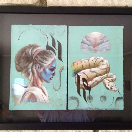 Jeff McMillan Original Art - Original Painting - Gardenia / Snap Dragon