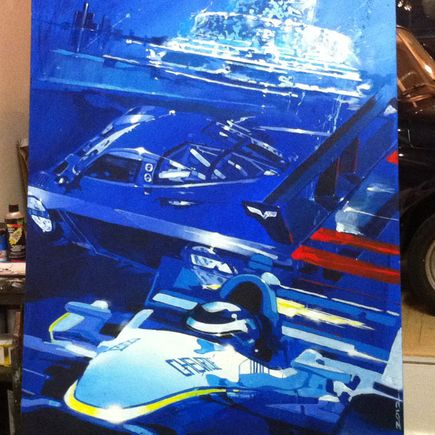 Camilo Pardo Original Art - 2012 Detroit Grand Prix Original Painting