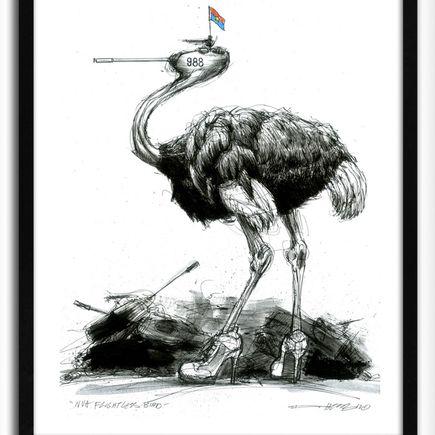 Derek Hess Original Art - NVA Flightless Bird - Original Painting