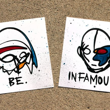 Gregory Siff Art Print - Be Infamous