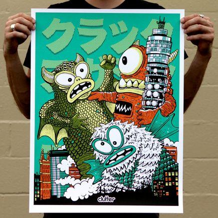 Jeff Lamm Art Print - London Face Punch