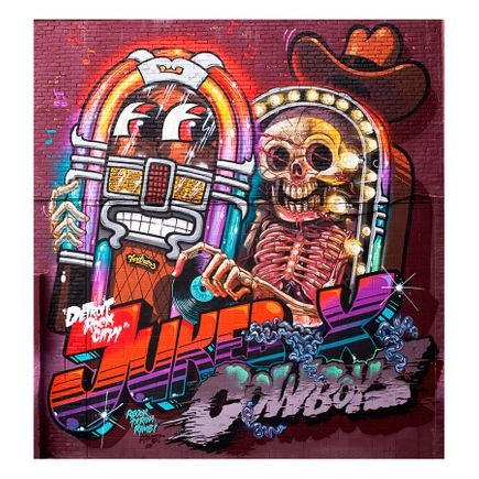 Nychos & Flying Fortress Art Print - Detroit Rock City