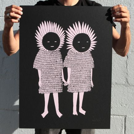 Kid Acne Art Print - Twins - Black Edition