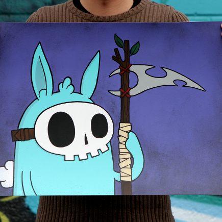 Kill Taupe Original Art - Don't Fear... (Purple Edition)