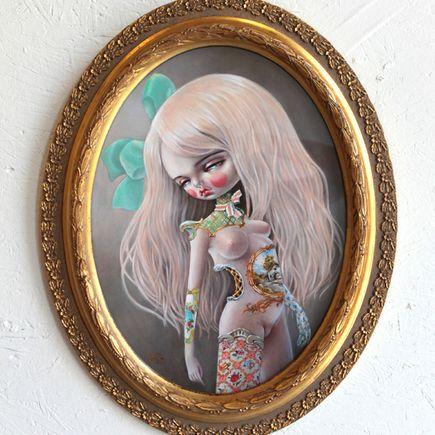 Kukula Art - Grapefruit Macaron - Framed