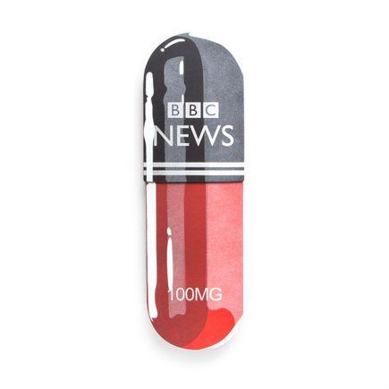 Denial Original Art - Daily-Dose - BBC - 7.5 x 24 Inch Pill