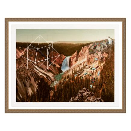 Mary Iverson Art Print - 20 of 20 - Yellowstone Falls - Hand-Embellished Edition