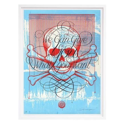 ASVP Art Print - Skull - We Can Give You What You Want - Blue Edition