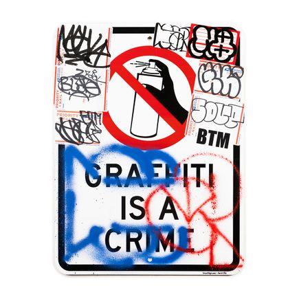 Hael Original Art - Graffiti Is A Crime I - I - 18 x 24 Inches