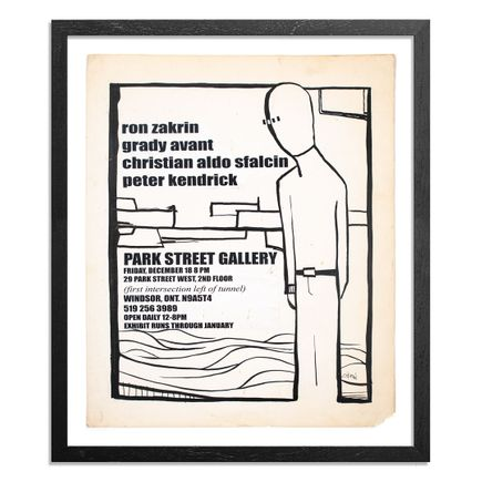 Ron Zakrin Original Art - Park Street Gallery Opening Poster
