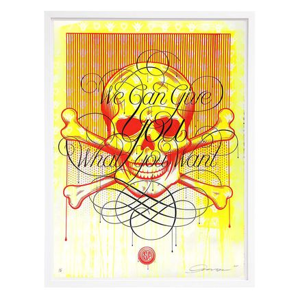 ASVP Art Print - Skull - We Can Give You What You Want - Yellow Edition