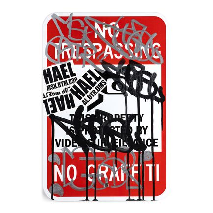 Hael Original Art - No Trespassing - I - 12 x 18 Inches