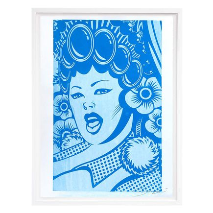 ASVP Art Print - Cheerleader (Close Up) - Light Blue Edition