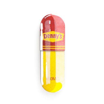 Denial Original Art - Micro-Dose - Denny's - 3 x 10 Inch Pill