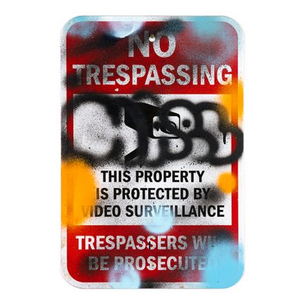 Hael Original Art - No Trespassing - V - 12 x 18 Inches