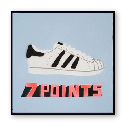 Bill Barminski Original Art - Shoe Painting - Adidas