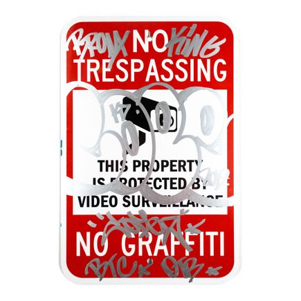 Cope2 Original Art - No Trespassing - 12 x 18 Inches - V
