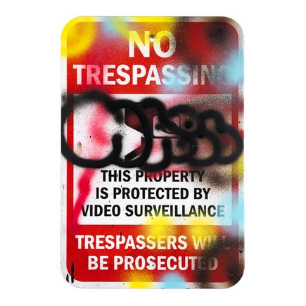 Hael Original Art - No Trespassing - VI - 12 x 18 Inches