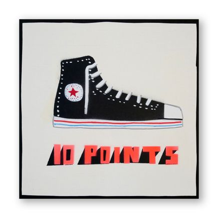 Bill Barminski Original Art - Shoe Painting - Black Chuck