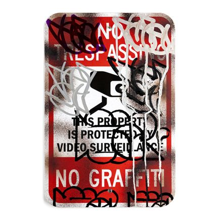 Hael Original Art - No Trespassing - IV - 12 x 18 Inches