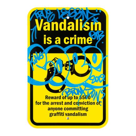 Cope2 Original Art - Vandalism Is A Crime - 12 x 18 Inches - III