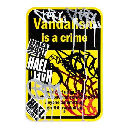 Hael Original Art - Vandalism Is A Crime - III - 12 x 18 Inches