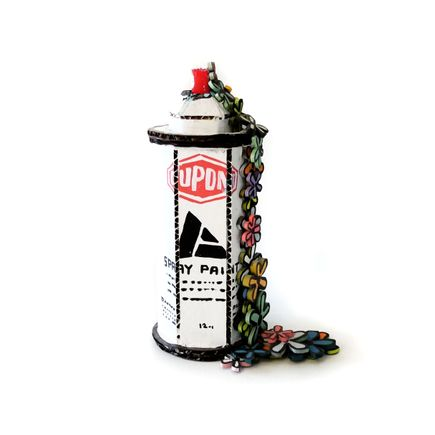 Bill Barminski Original Art - Spray Can with Flowers