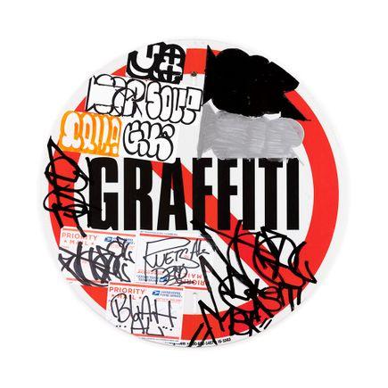 Hael Original Art - No Graffiti Symbol - II - 12 x 12 Inches