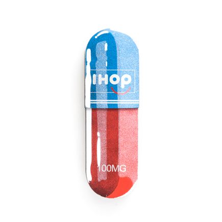 Denial Original Art - Micro-Dose - IHOP - 3 x 10 Inch Pill