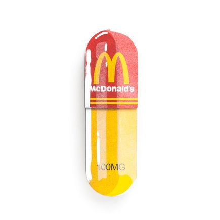 Denial Original Art - Micro-Dose - McDonald's - 3 x 10 Inch Pill