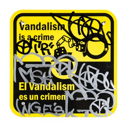 Hael Original Art - Vandalism Is A Crime - II - 12 x 12 Inches
