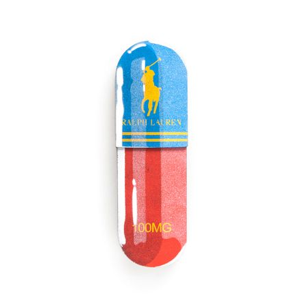 Denial Original Art - Micro-Dose - Ralph Lauren - 3 x 10 Inch Pill