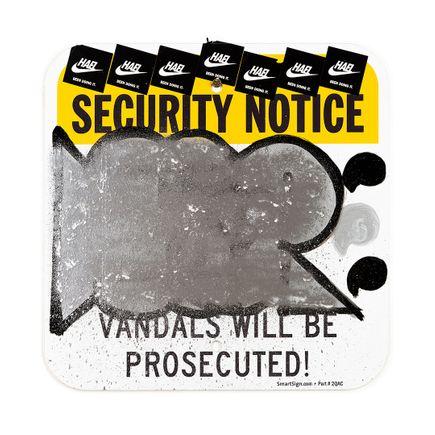 Hael Original Art - Security Notice - II - 12 x 12 Inches