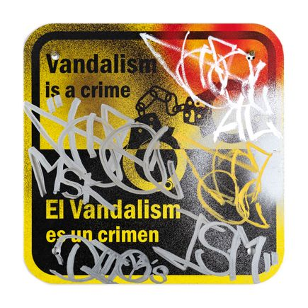 Hael Original Art - Vandalism Is A Crime - IV - 12 x 12 Inches