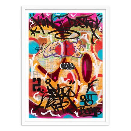 Cope2 Original Art - 09 - New York City Subway Map VI - Original Artwork
