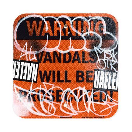 Hael Original Art - Vandals Will Be Prosecuted - IX - 12 x 12 Inches
