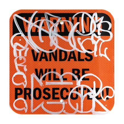Hael Original Art - Vandals Will Be Prosecuted - I  - 12 x 12 Inches