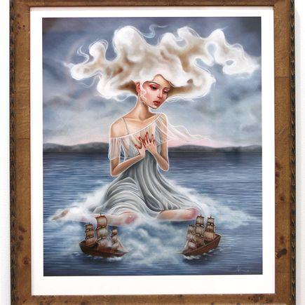 Audrey Pongracz Art Print - Her White Darkness