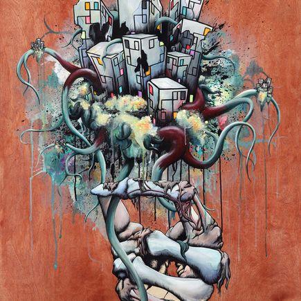 Daryll Peirce Original Art - Original Painting - Or The Bad News First