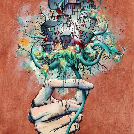 Daryll Peirce Original Art - Original Painting - Would You Like The Good News