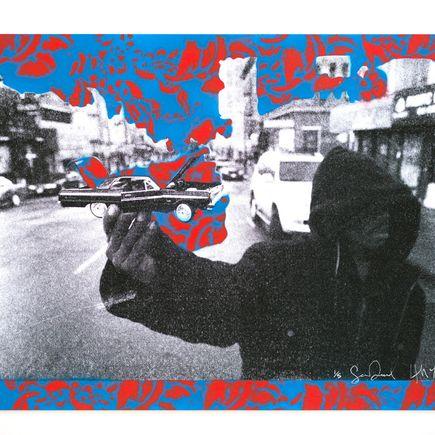 Desmond/Leeman Art Print - Steady Rollin' - Red/Blue Variant