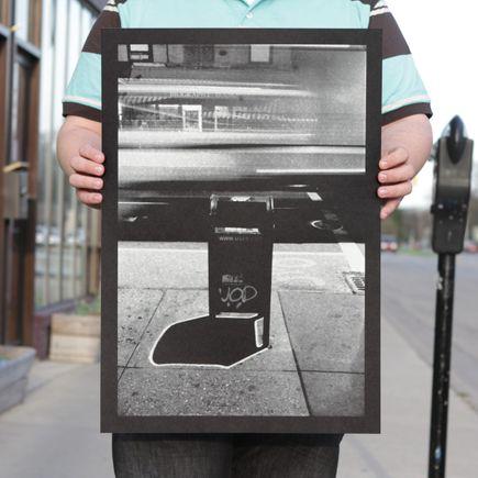 Ellis G Art Print - Bleecker Street Mailbox - Silver Edition