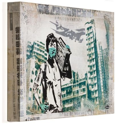 Eddie Colla Hand-painted Multiple - Air Kowloon - Cradled Wood Boxes