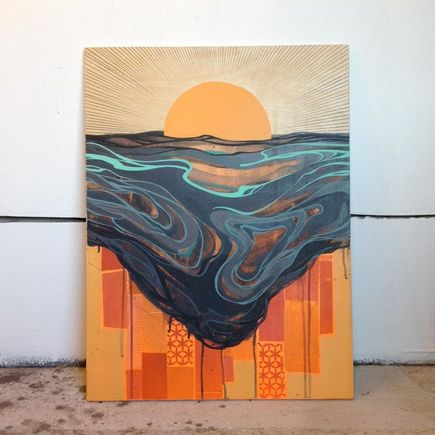 Erik Otto Original Art - Chasing The Sun Original Painting